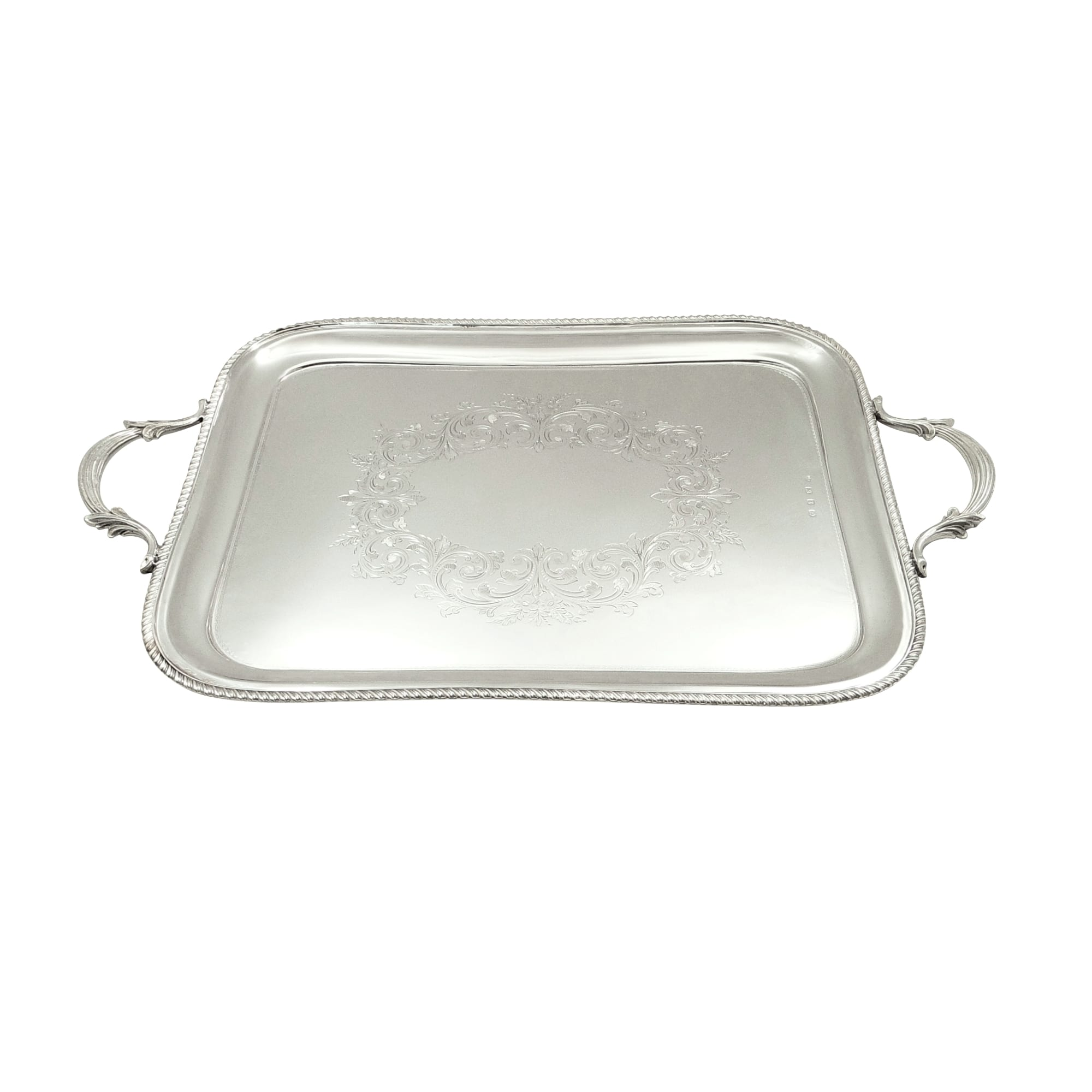 Antique Victorian Sterling Silver 16″ x 12″ Tray 1899