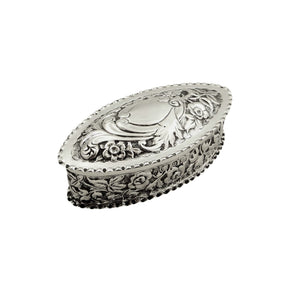 Antique Victorian Sterling Silver Trinket Box 1894