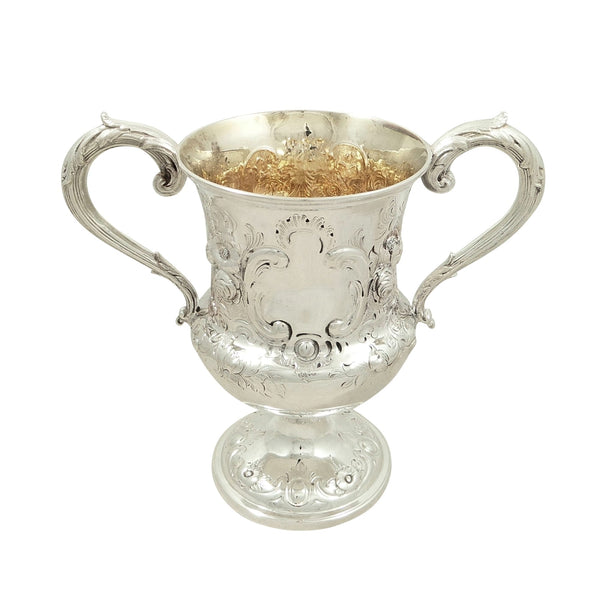 Antique Victorian Sterling Silver Trophy / Cup 1860