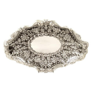 Antique Victorian Sterling Silver 10″ Dish 1891
