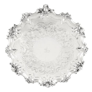 Antique Victorian Sterling Silver Tray / Salver 1841