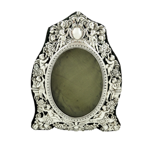 "Antique Victorian Sterling Silver 9"" Photo Frame 1898"