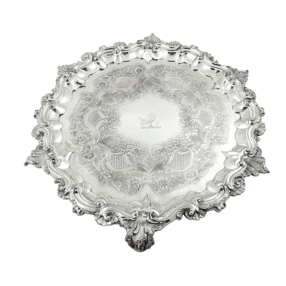 Antique William IV Sterling Silver Tray / Salver 1831