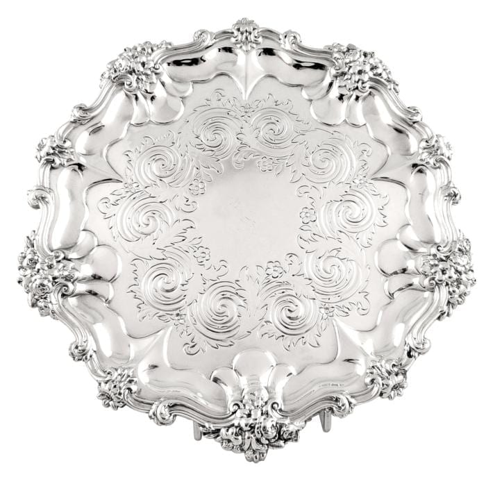 Antique William IV Sterling Silver Tray / Salver – 1835