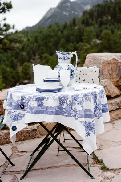 Patched Vintage Floral Tablecloths