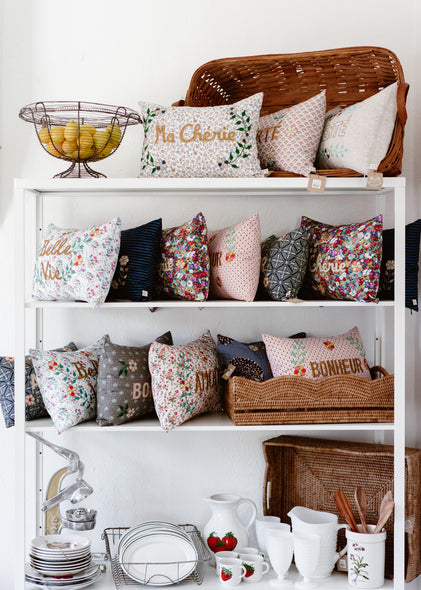 French Embroidered Cushions