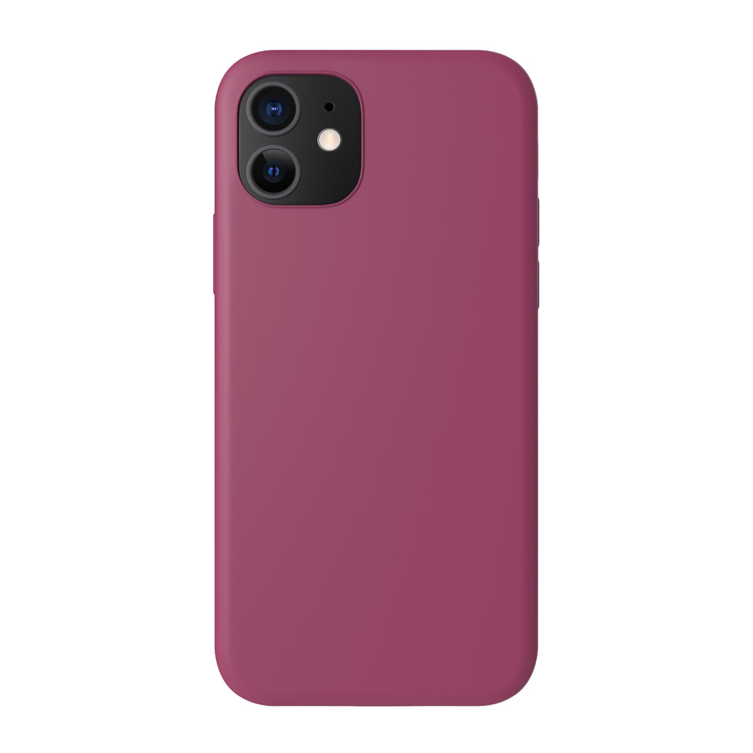 Silicone Cover - Wine Burgundy - iPhone 12-modellen