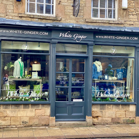 image of the exterior of the White Ginger UK shop in Stamford