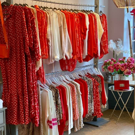 image of women's clothing available at the White Ginger Stanford shop
