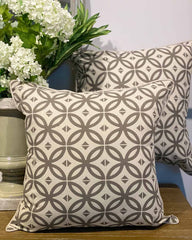 Beige Geometric Cushion Cover