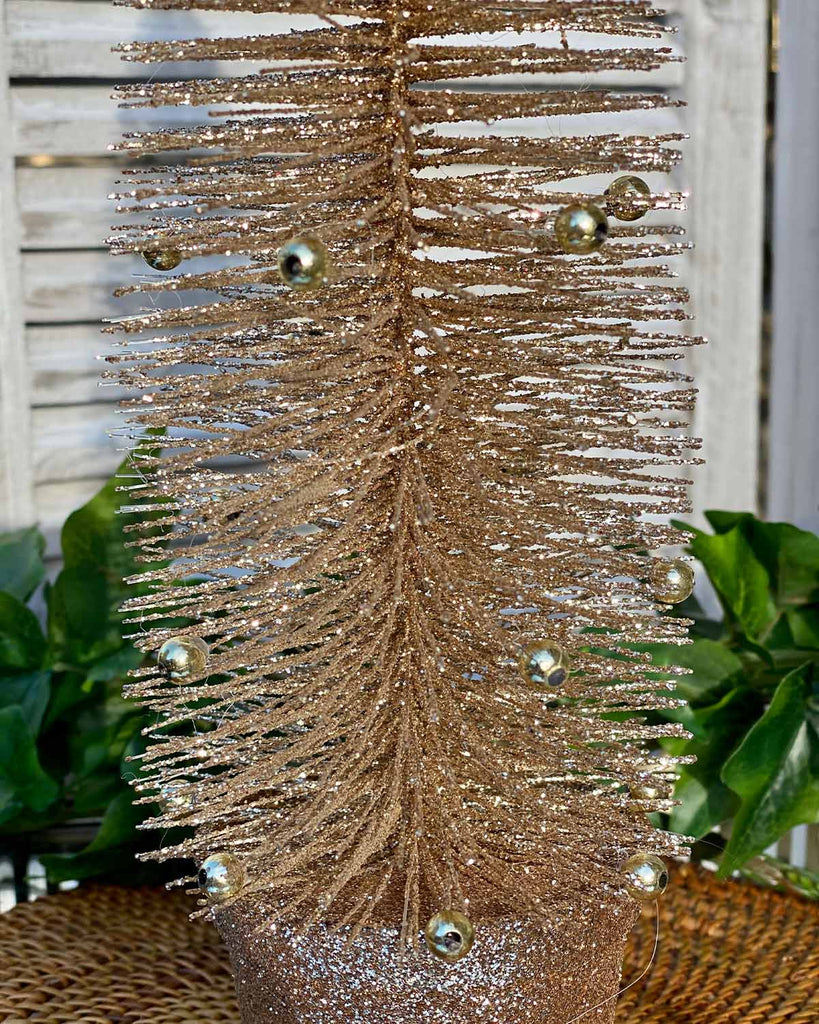 Small Gold Glitter Christmas Tree
