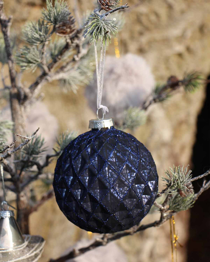 Large Navy Bauble