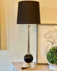 Paris Nickel & Black Lamp