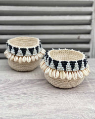 Mini Shell Woven Basket