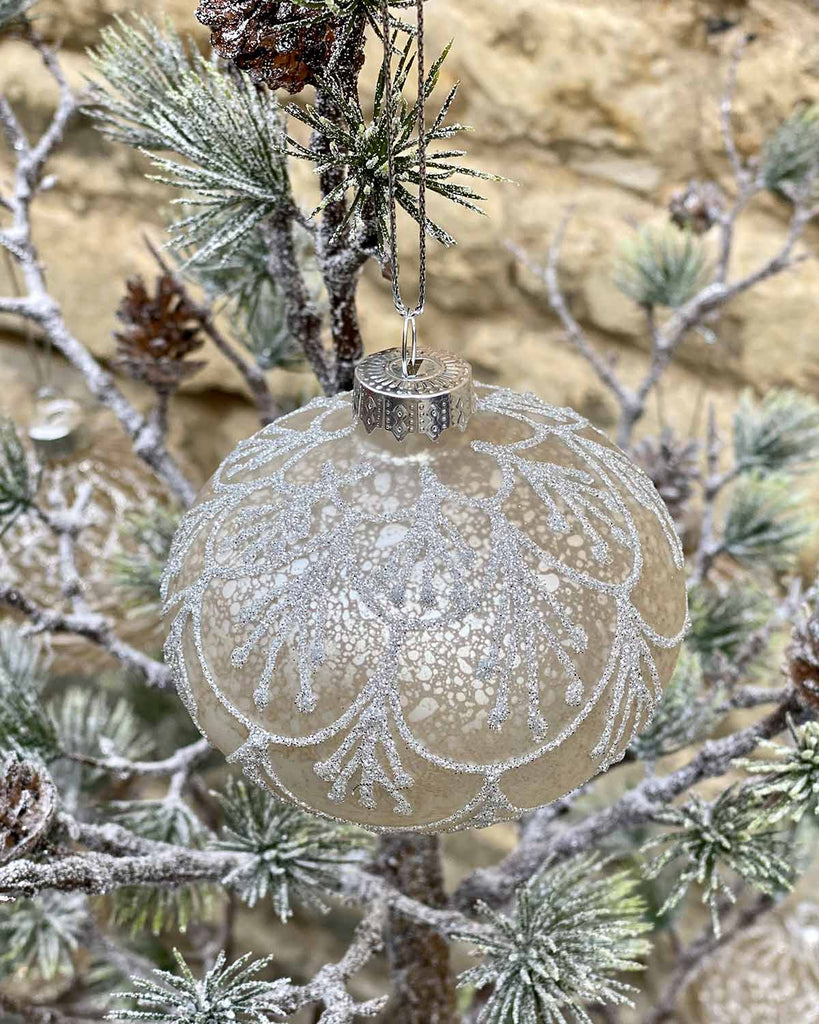 Silver Snowflake Bauble