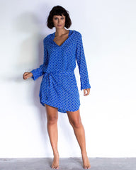 Maria dress - Cobalt Small Circle