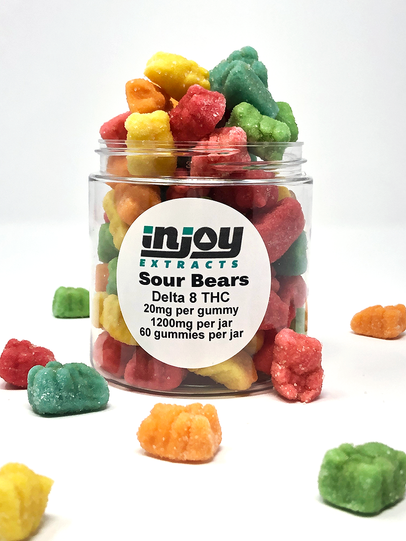 1200mg Delta 8 Sour Gummy Bears