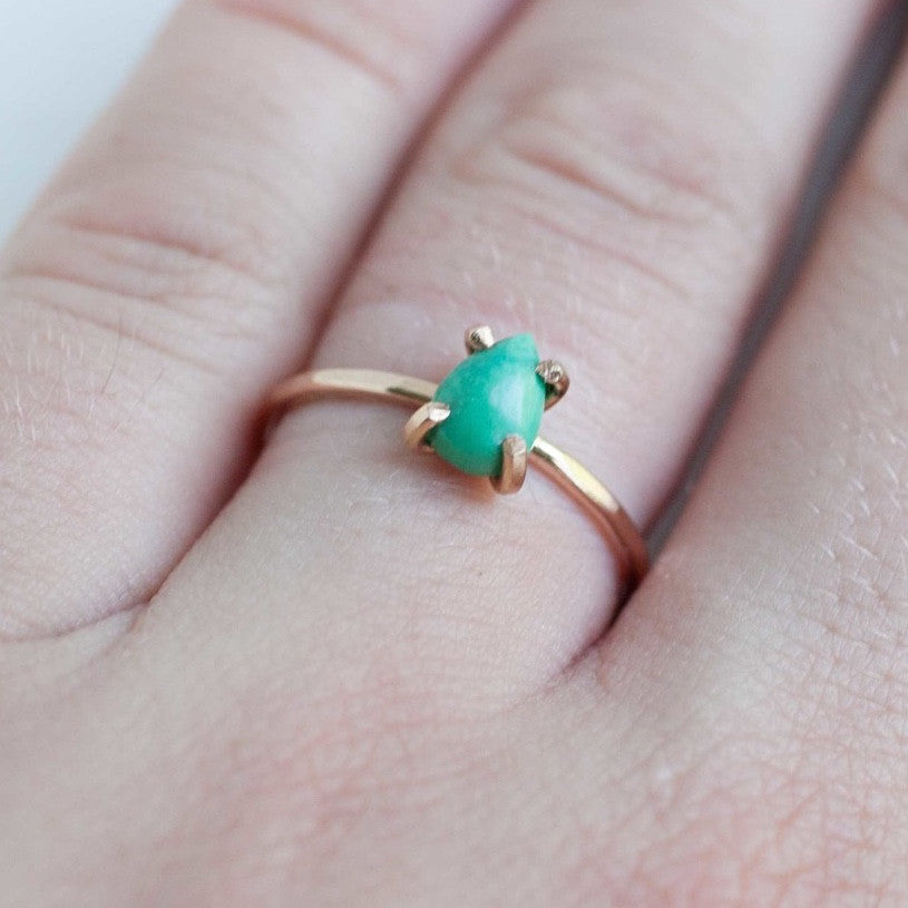 Turquoise Pear Cut Ring