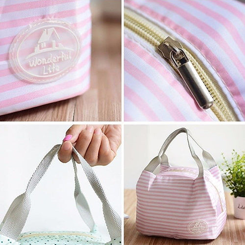 Portable Thermal Insulated Lunch Container Box Storage Bag Picnic Totes Pouch