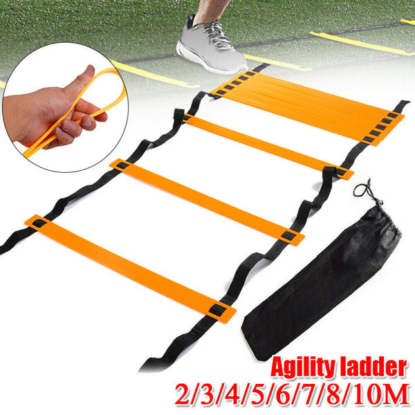 6/12Rung Agility Ladder for Speed Soccer Football Fitness Feet Training With Bag