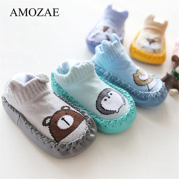 Newborn Animal Pattern Infant Foot Socks Anti-Slip
