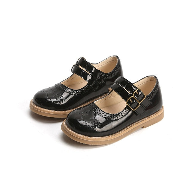 Girls Leather Shoes Restro