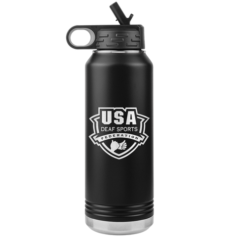 USA Deaf Sports 32oz Water Bottle Tumbler