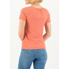 Afbeelding in Gallery-weergave laden, Blutsgeschwister t-shirt 'logo stripe heart' red tiny stripe