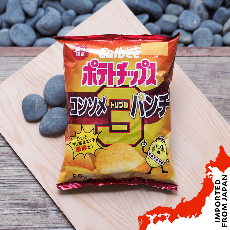 Calbee Potato Chips Consomme Triple Punch - 50g