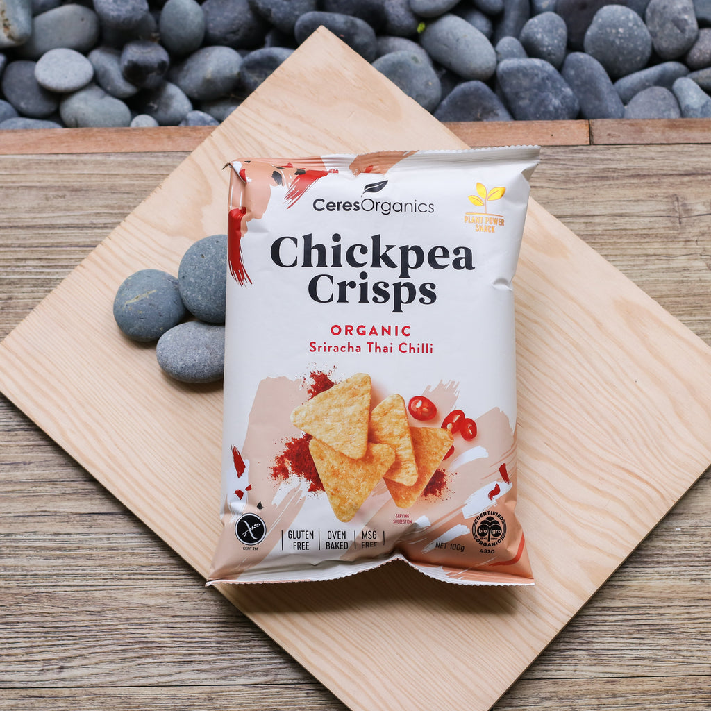 Ceres Organics Chickpea Crisps Sriracha Thai Chilli - 100g