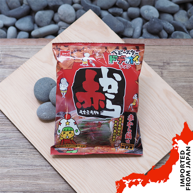 Oyatsu Baby Star Dodekai Ramen Crisps Red Hot Pot - 66g