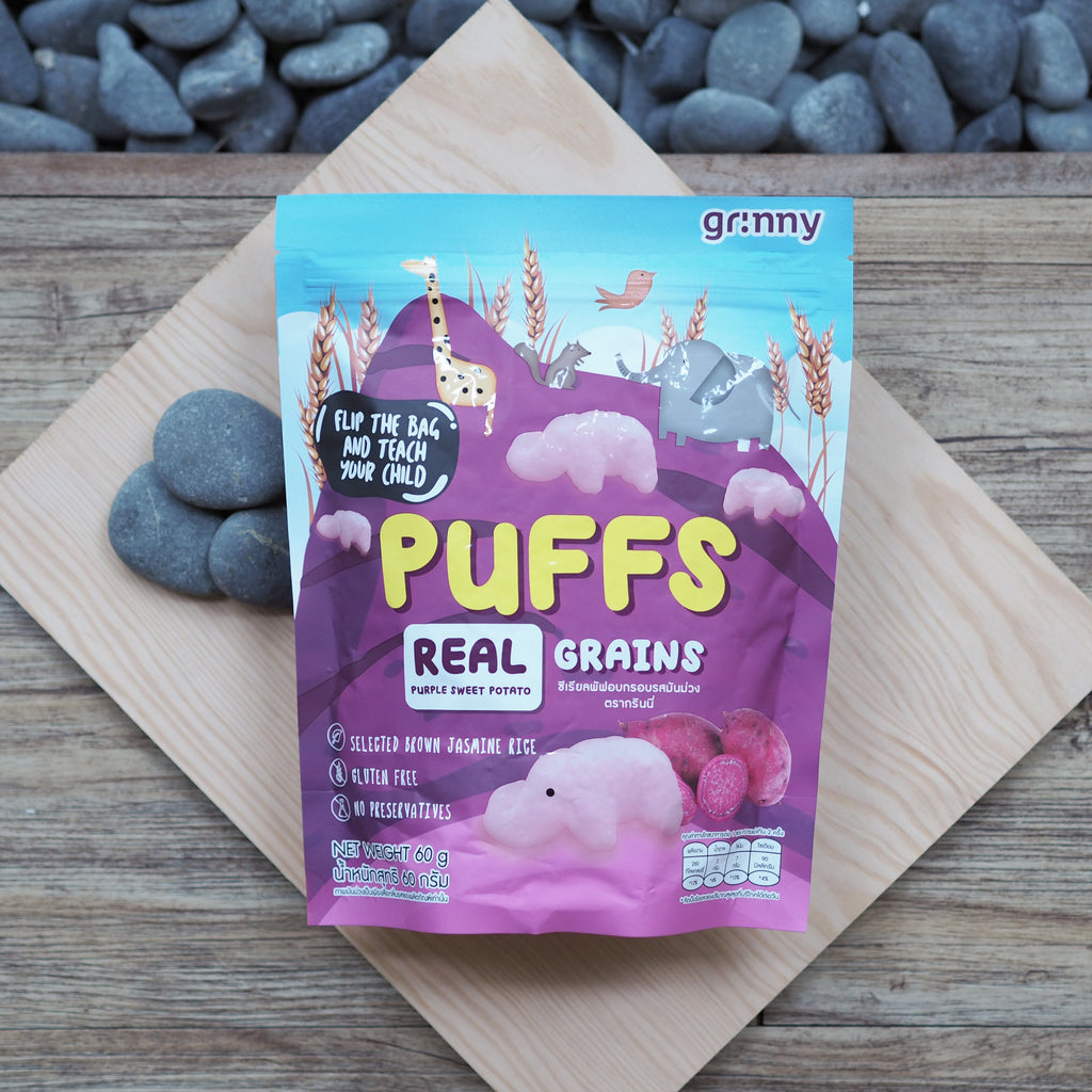 Grinny Rice Puffs Real Purple Sweet Potato - 60g