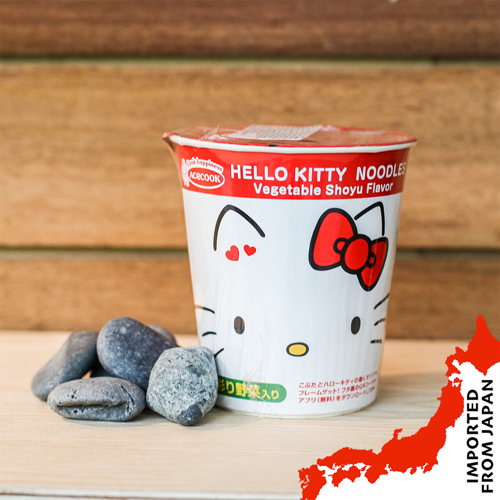 AceCook Hello Kitty Ramen, Vegetable Soy Sauce Flavour - 57g