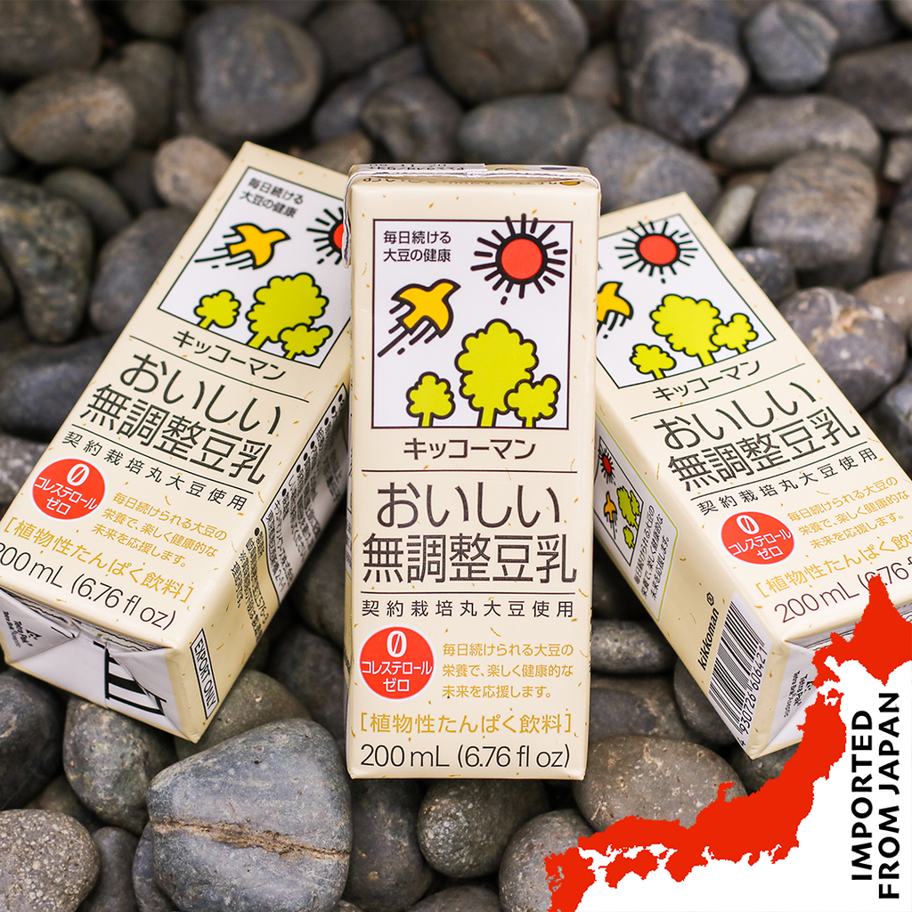Kikkoman Unsweetened Soy Milk (200ml) - 6 packets