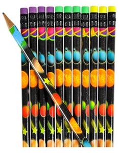 Space Pencils - Pack of 12