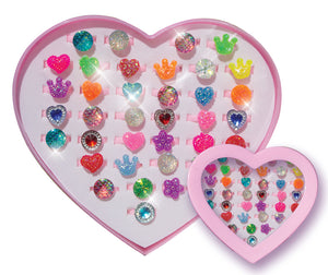 Kids Sparkle Rings - Pack of 36