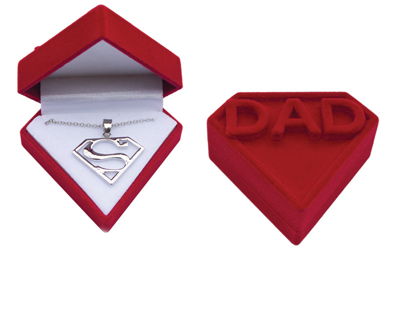 Superman Dad Necklace