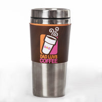 Dad Loves Coffee Insulated Mug