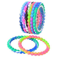 Tye Dye Bead Bracelet - Pack of 12
