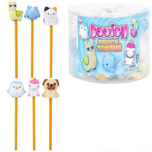 Squish Animal Pencil Toppers - Pack of 12