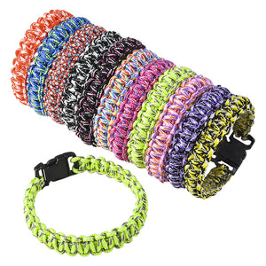 Paracord Woven Bracelets - Pack of 12