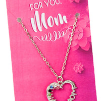 Mom Heart Stone Necklace
