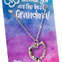 Grandma Heart Stone Necklace
