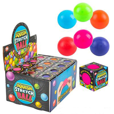 Squish Stretch Ball Boxed - Pack of 6