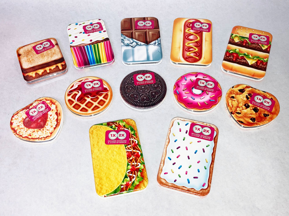 Yummy Compact Mirrors - Pack of 12