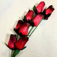 Wooden Roses - Pack of 8