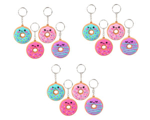 Donut Keychains - Pack of 12