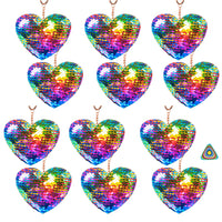 Heart Sequin Keychains - Pack of 12