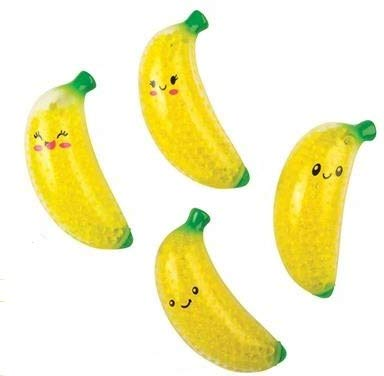 Squeezy Bead Squishy Bananas - Pack of 6
