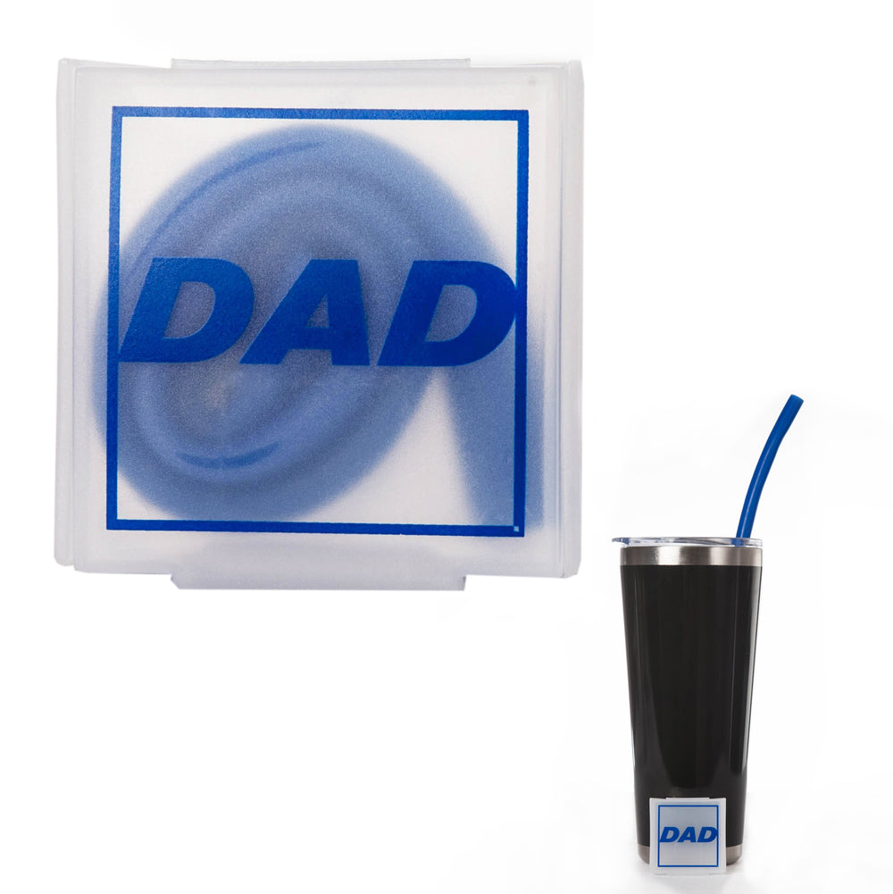 Dad Reusable Silicone Straw